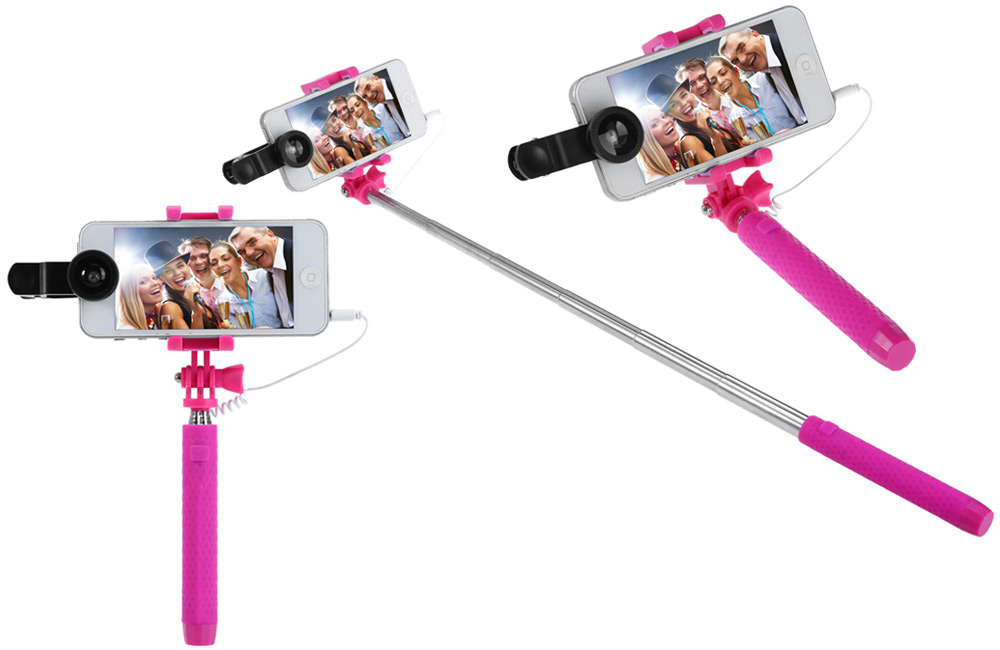 JR-234 Mini 3 Supreme Mini Adjustable Selfie Monopod 270 Degrees Rotating Phone Clip