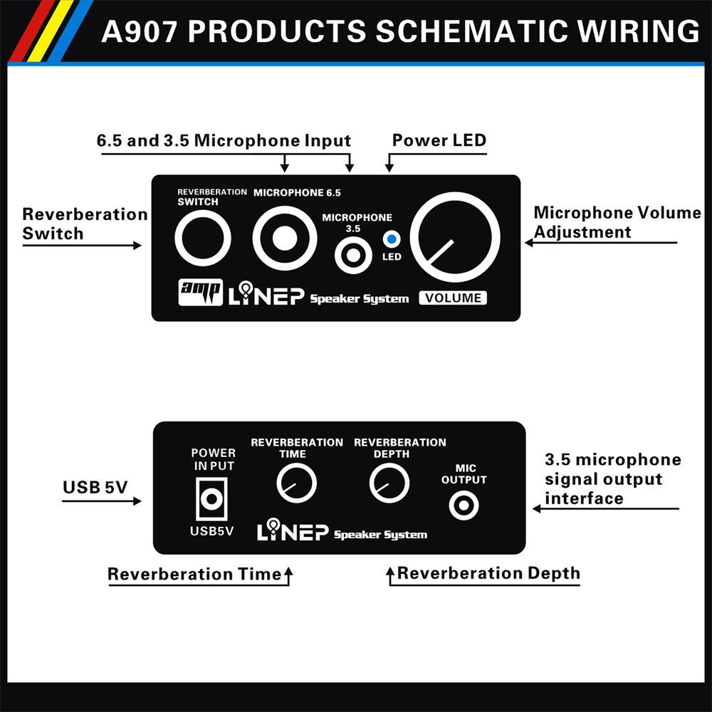 Linep A907 Microphone Amplifier Switcher 3539 Free Shipping Snapshoot Of Studio Series Stereo Headphone Circuit High Impedance Professional Audio Equipment
