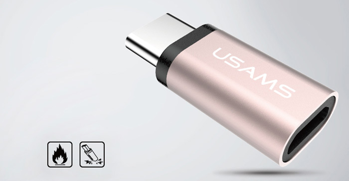 USAMS US-SJ021 Micro USB to Type-C Data Transfer and Charging Adapter