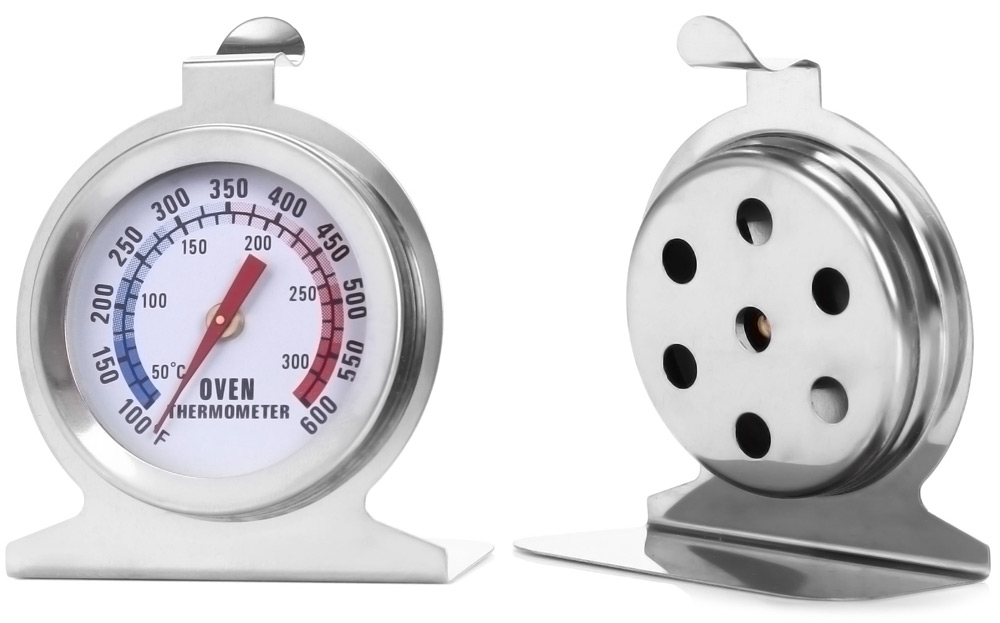 Heat-resistant Stainless Steel Dial Oven Thermometer Food Meat Temperature Measurement Tool- Silver