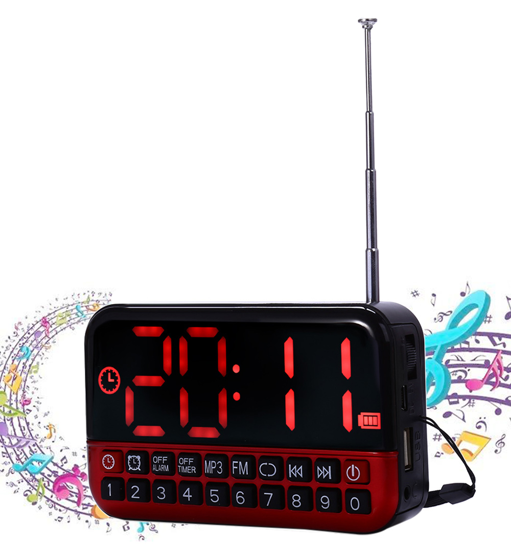 L 80 Large Lcd Screen Mp3 Player Speaker Fm Radio Receiver Desk Wholesale Module Special Price Personalized Portable Multi Functional Led Alarm Clock Card