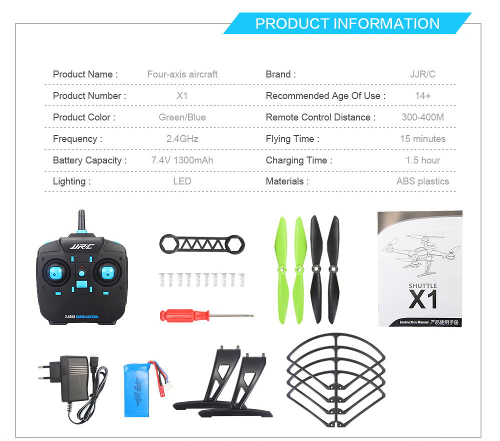 Jjrc X1 24g 4 Channel 6 Axis Gyro Remote Control Quadcopter With Piccolo Wiring Using Brushless Motor 24ghz 4ch Rc Ready To Fly