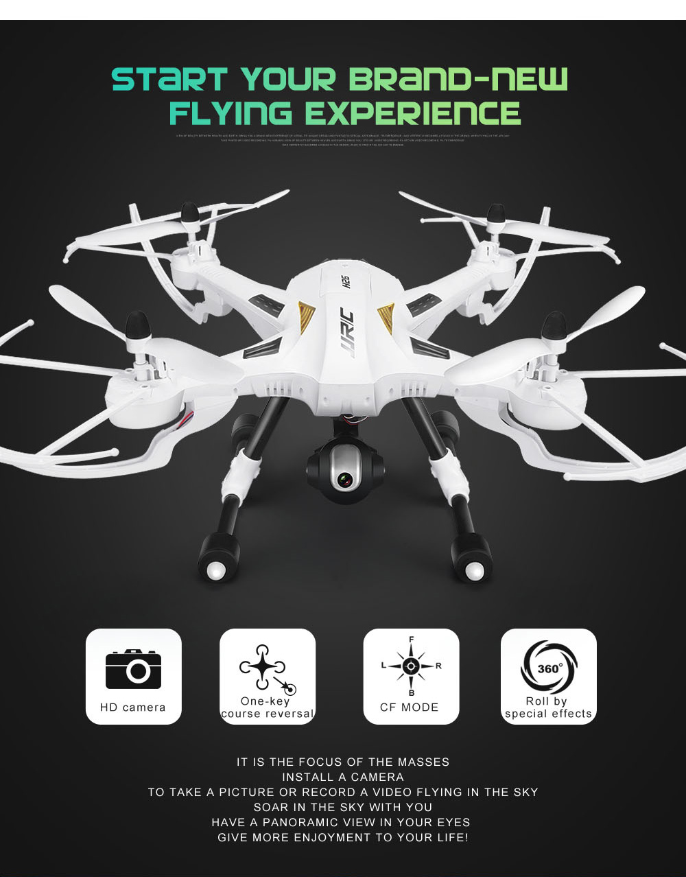 Jjrc H26w Drone Wifi Fpv With 720p Cam Rc Quadcopter 8599 And Free The Plane Sound System Mr V4 Multi Engine Pack Hd Camera 24g 4 Channel 6 Axis Gyro