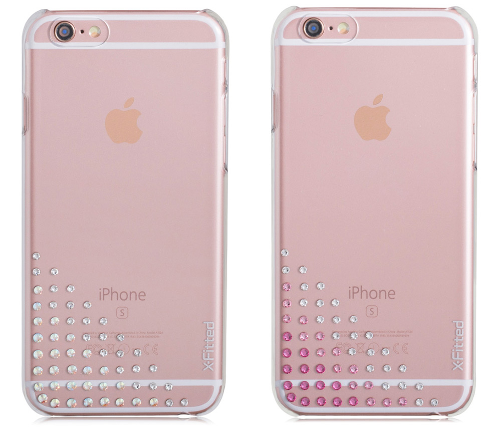 X-Fitted Elegant Protective Back Case for iPhone 6   6S with 55 Swarovski  Diamond 8448ece1f89