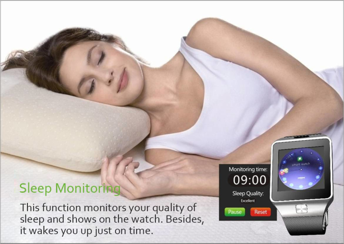 DZ09 Smartwatch Bluetooth Phone with Sleep Monitor Pedometer Camera Single SIM - Silver