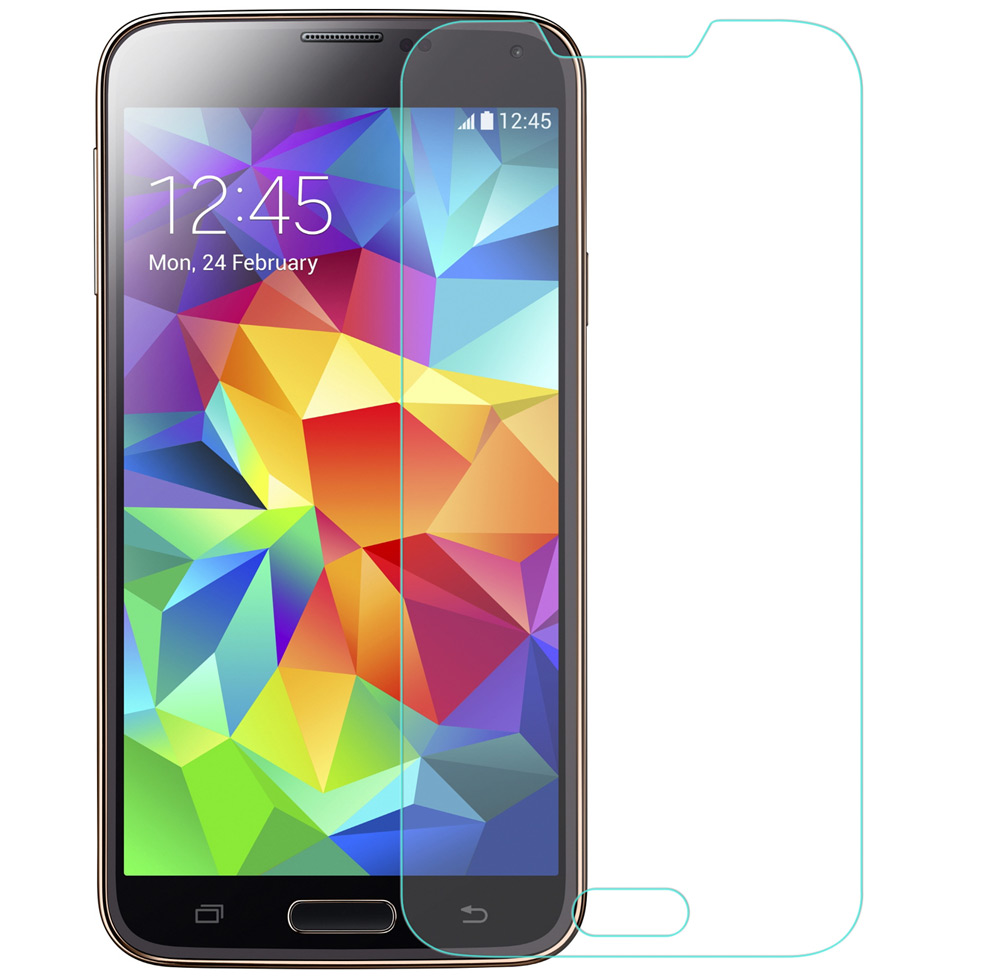 Angibabe 0.18mm Ultra-thin Tempered Glass Screen Film for Samsung Galaxy S5 2.5D Arc
