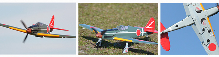 FMS KI - 61 RC Airplane Model KIT Version Fixed-wing Aeroplane