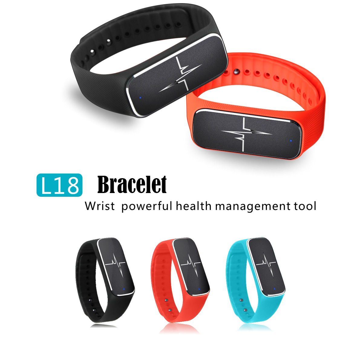 L18 37 Degree Smart  Wristband Fitness  Bluetooth