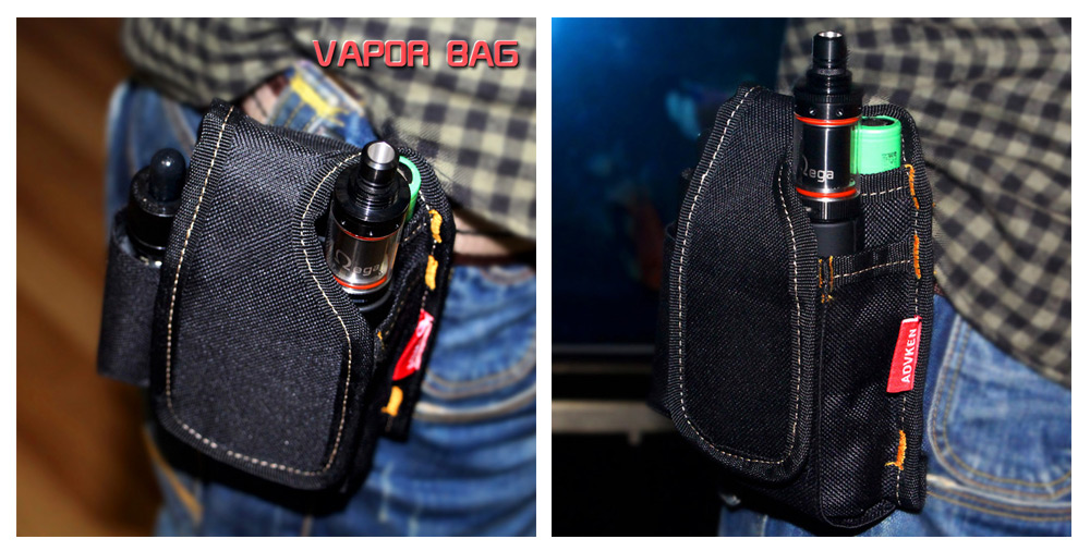 Advken Vapor Bag Material Polyester Anti Abrasion With Lock Catch For Comfortable Wearing Suitable Carrying E Cigarette Like Atomizer Mod