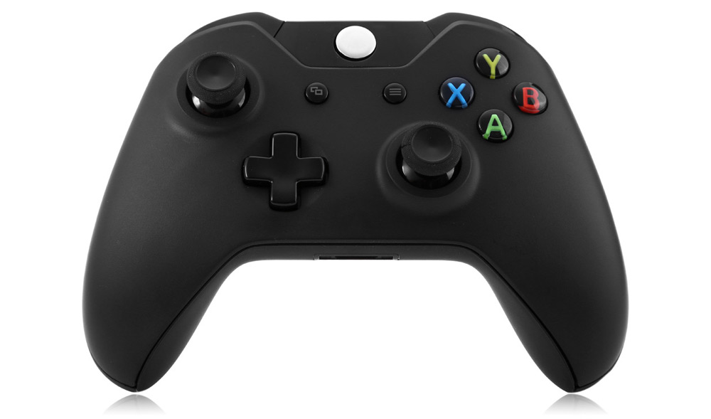 Wireless 2.4G Game Controller Gamepad with Vibration Motor Game Rocker Ergonomic for XBOX ONE- Black