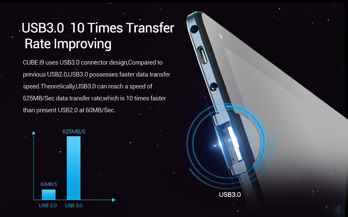 Cube i9 Windows 10 Ultrabook Tablet PC - $493.44 Free Shipping ...