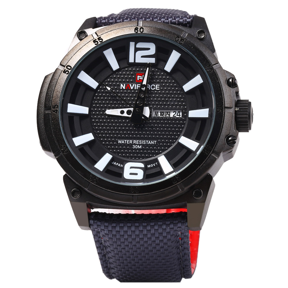Naviforce 9066 Men Quartz Watch with Canvas Band