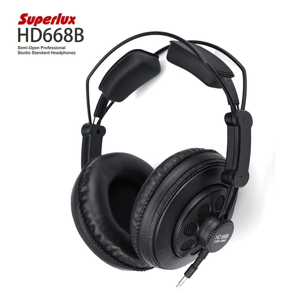 Superlux Hd668b Professional Studio Standard Headphones 4812 Ems Adjustable Headband Green Gold For Baby Earmuff Specially Design With High Fidelity Sound And More Music Detail Provides A Clearer The Engineer To Make Post Production