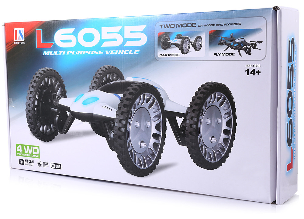 Lishitoys L6055 Functional Quadcopter 2 in 1 Car Mode + Copter Mode 2.4G 6 Channel 6 Axis Gyro