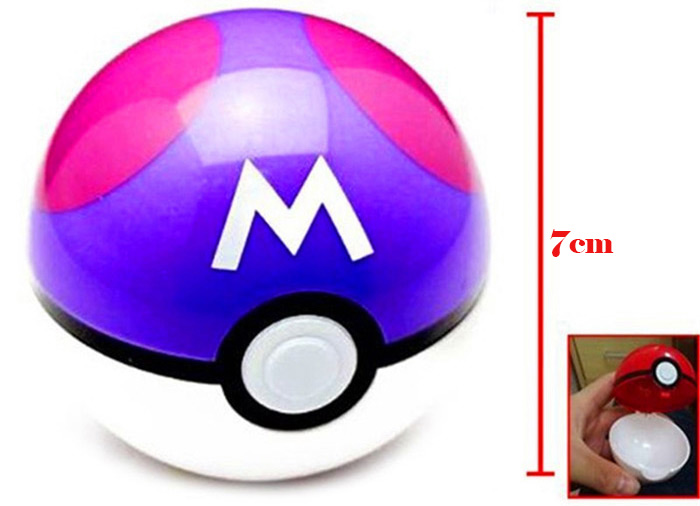 Pokemon Ball 7cm Figures ABS Anime Action Figure Poke Toy Red F GS
