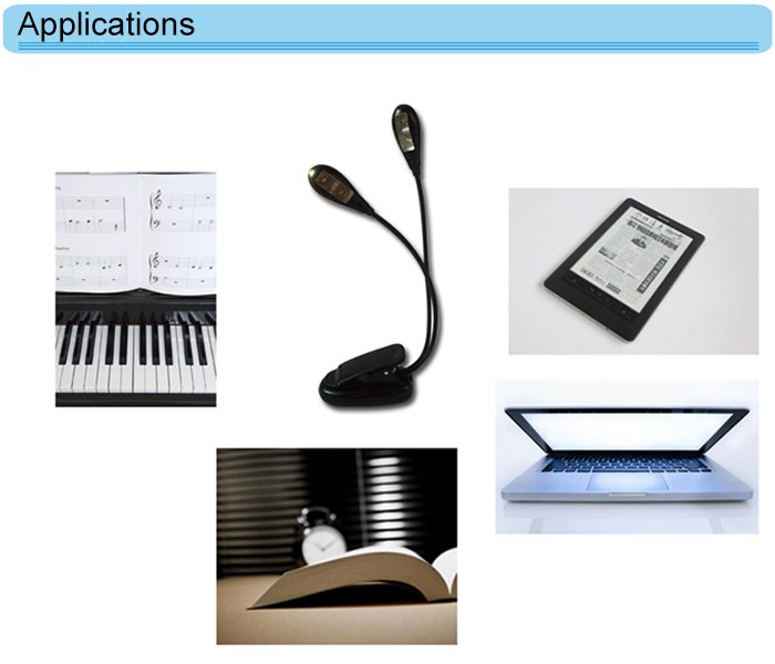 Clip Style USB AAA LED Gooseneck Light Desk Table Reading Lamp