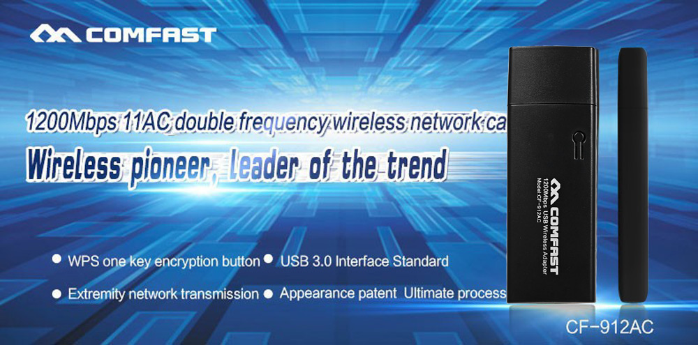 Comfast CF - 912AC 1200Mbps USB 3.0 WiFi Converter AP Repeater Network Receiver Support  802.11ac