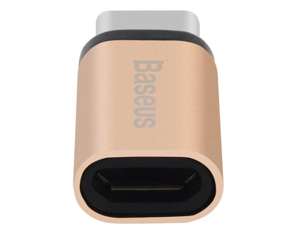 Baseus Micro to Type-C Adapter Data Transmission Charge- Rose Gold