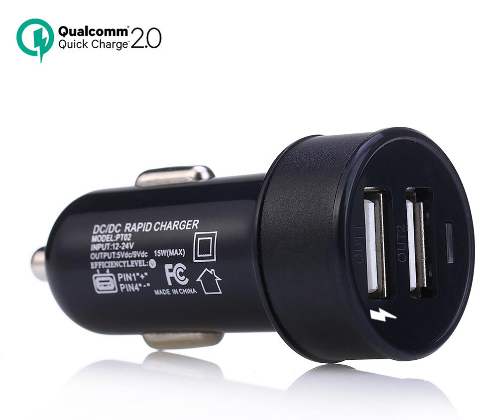 Qc2 0 dual usb car charger rapid charging adapter