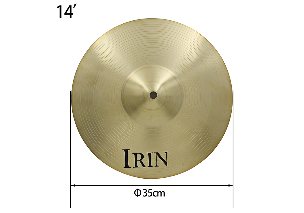 Irin 14 Inch Hi Hat Cymbal Brass Accessory For Drum Set 26 80