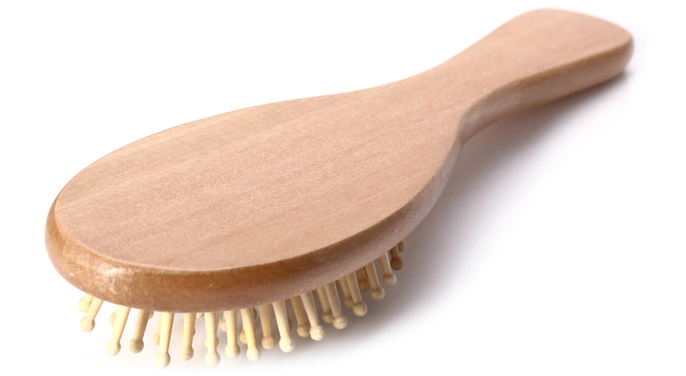 Cute Wooden Antistatic Care Spa Massage Hair Comb