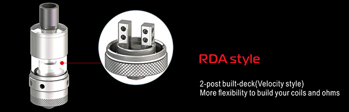Original Steam Crave Aromamizer RDTA V2 com 6ml / 2 Postes Rebuildable Dripping Tank Atomizer for E Cigarette