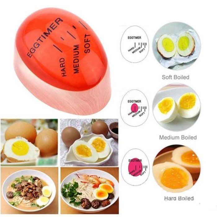 Creative Magic Color Changing Egg Timer Cook Thermometer Kitchen Gadgets- Red