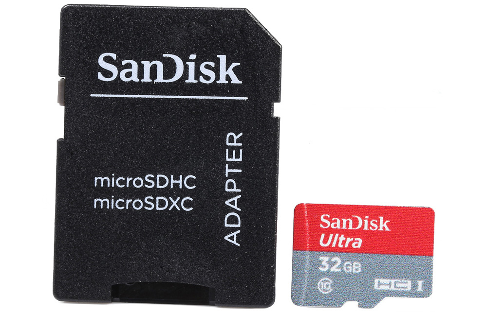 SanDisk Ultra microSDHC UHS-I Professional 32GB SD Extra Memory Card ( 80MB/s Class 10 ) with Adapter