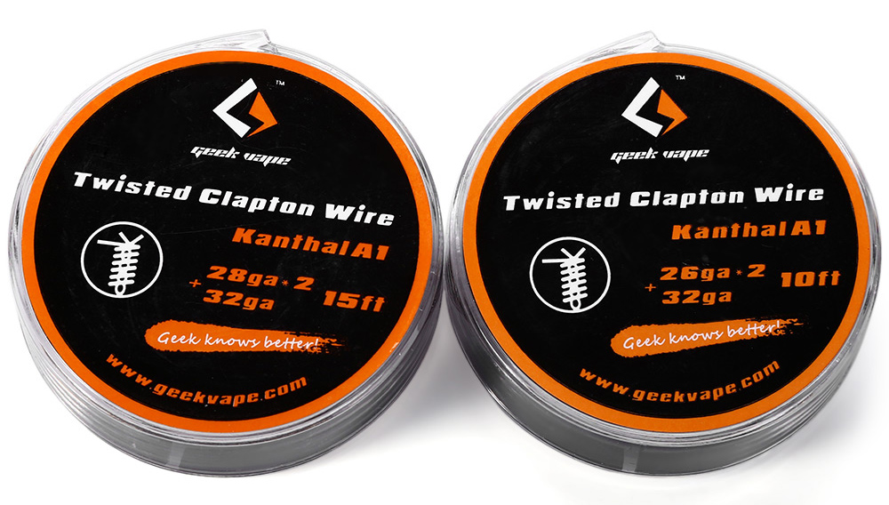Original Geekvape Twisted Clapton Kanthal A1 Resistance Wire - $6.37 ...