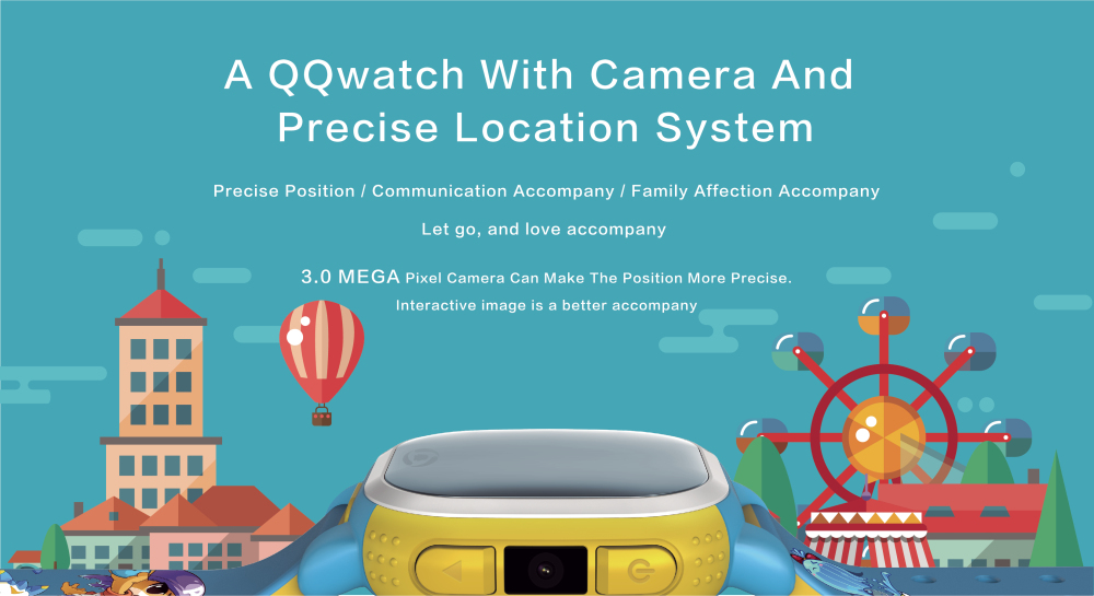 Tencent QQ Watch European Edition Children GPS Tracker Smartwatch Phone Camera LBS Location SOS Pedometer Alarm Weather