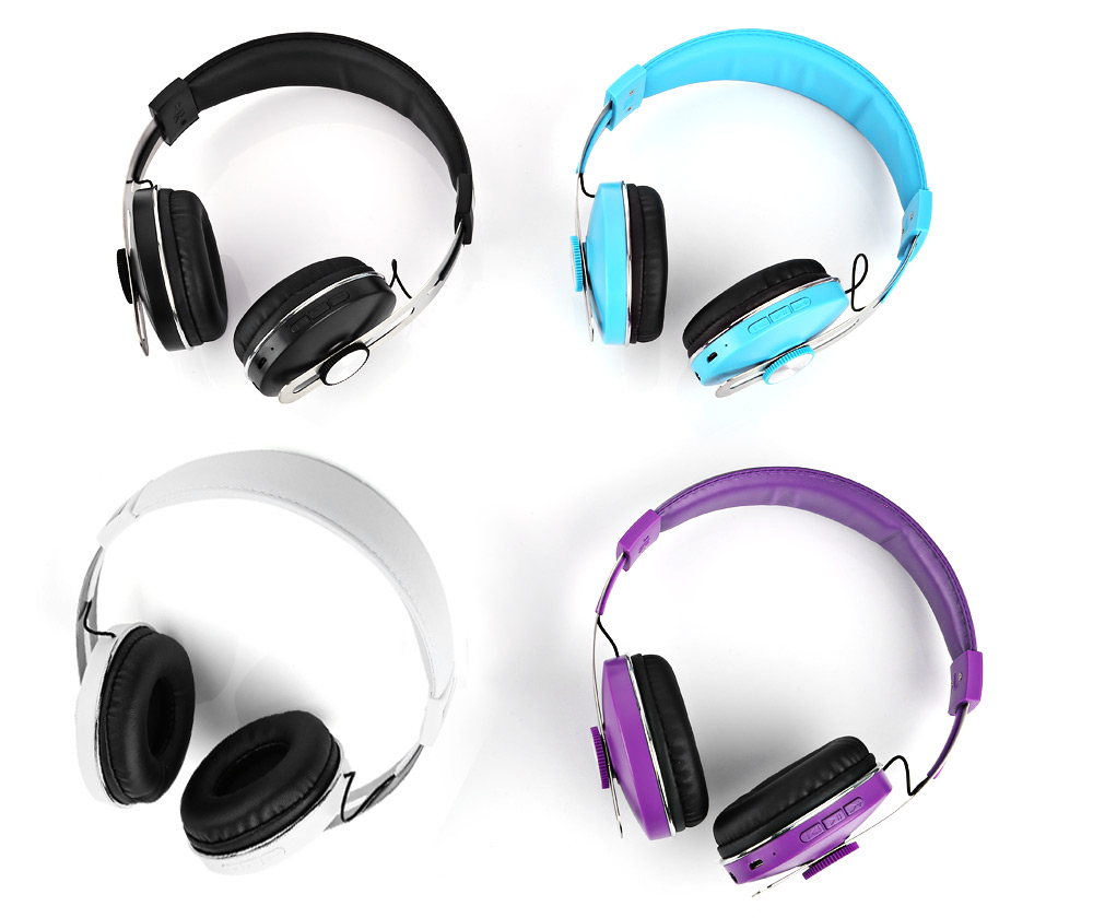 AT-BT823 Bluetooth V4.1 Stereo Headphones with Mic Song Switch Volume Control AUX-IN