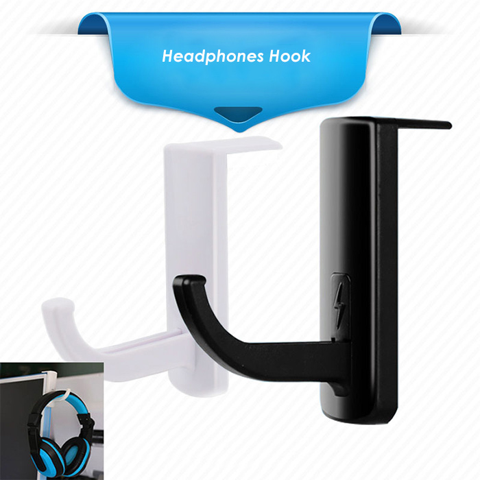 Stickup Headphones Hook Mini Computer Headset Stand Holder
