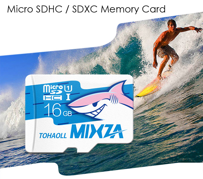 MIXZA TOHAOLL Ocean Series 16GB Micro SD Memory Card Storage Device