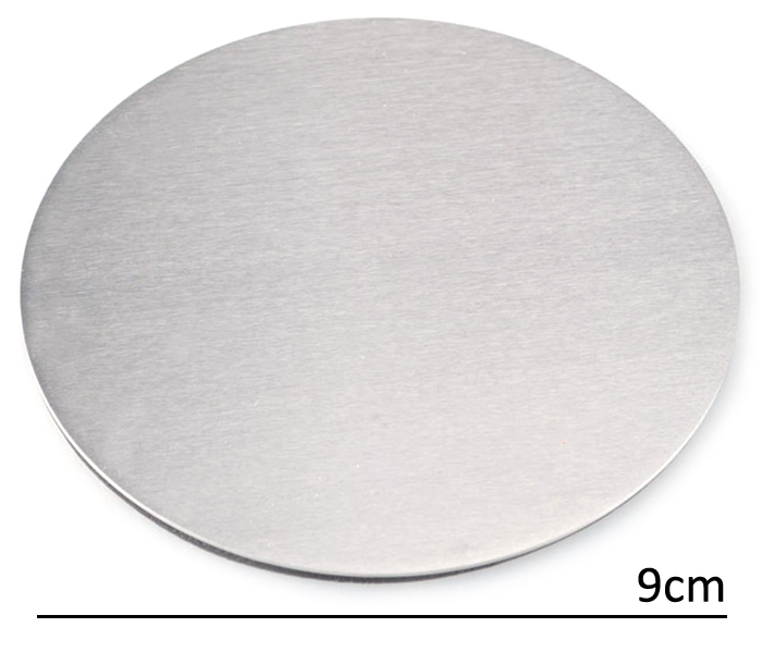 4PCS Multi-functional Stainless Steel Heat Insulation Mat Table Surface Protector Pad- Silver