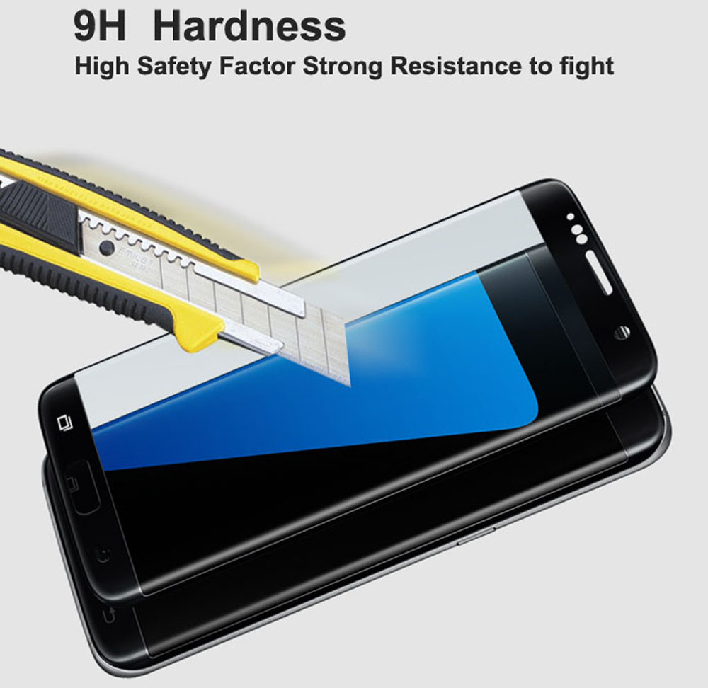 ASLING Tempered Glass Screen Protector for Samsung S7 Edge Ultra-Thin 0.2mm 3D Arc Full Cover Explosion-Proof Protective Film