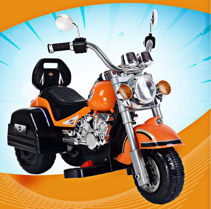 Safe Kid 6V Motorcycle 3 Wheel Max. 3 Km/h Electric Powered Music ...