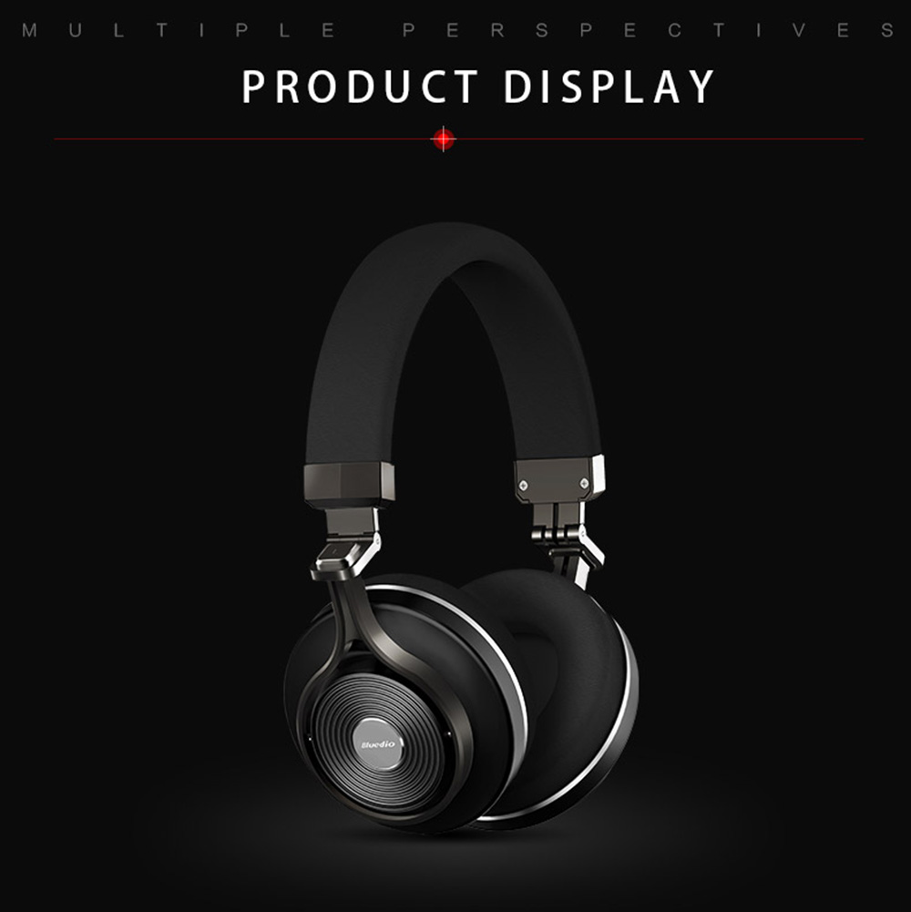 42e13d4314b Bluedio T3 Plus Bluetooth Headphones with Mic 3.5mm Line-in Audio Jack  Support Micro