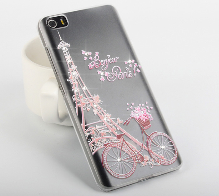 Diamond Style Transparent PC Hard Case for Xiaomi 5 Ultra Thin Phone Protector with Pattern Design