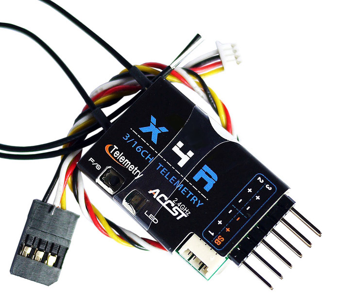 Frsky X4R - SB 2 4G 3 / 16 Channel Receiver with Smart Port SBUS Accessory  for RC Hobby