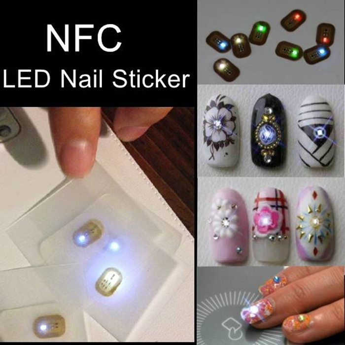 NFC Nail Sticker with Flashing LED Lights - $1.88 Free Shipping ...