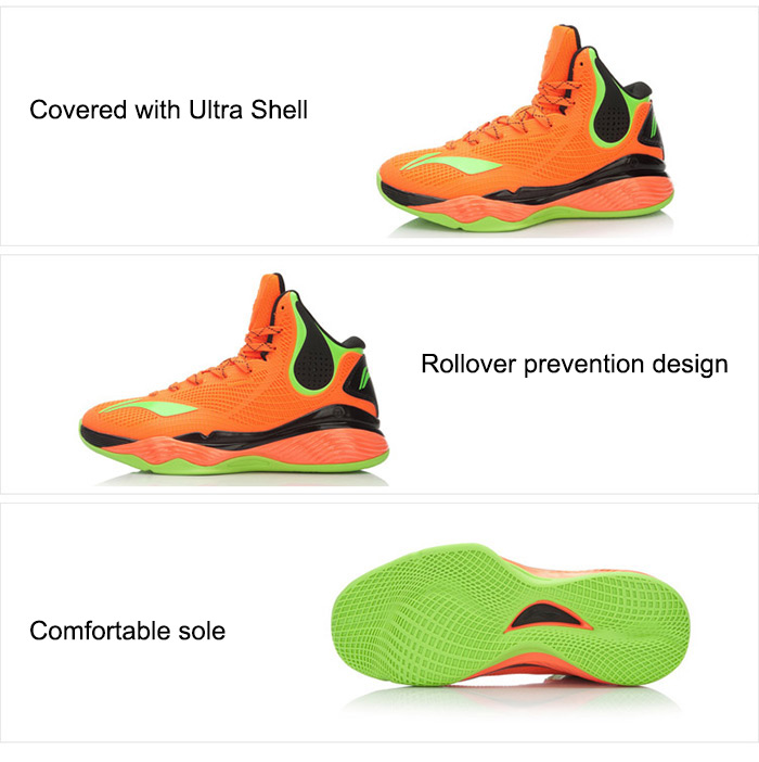 Original LI-NING Shockproof Professional Basketball Sneakers for Men