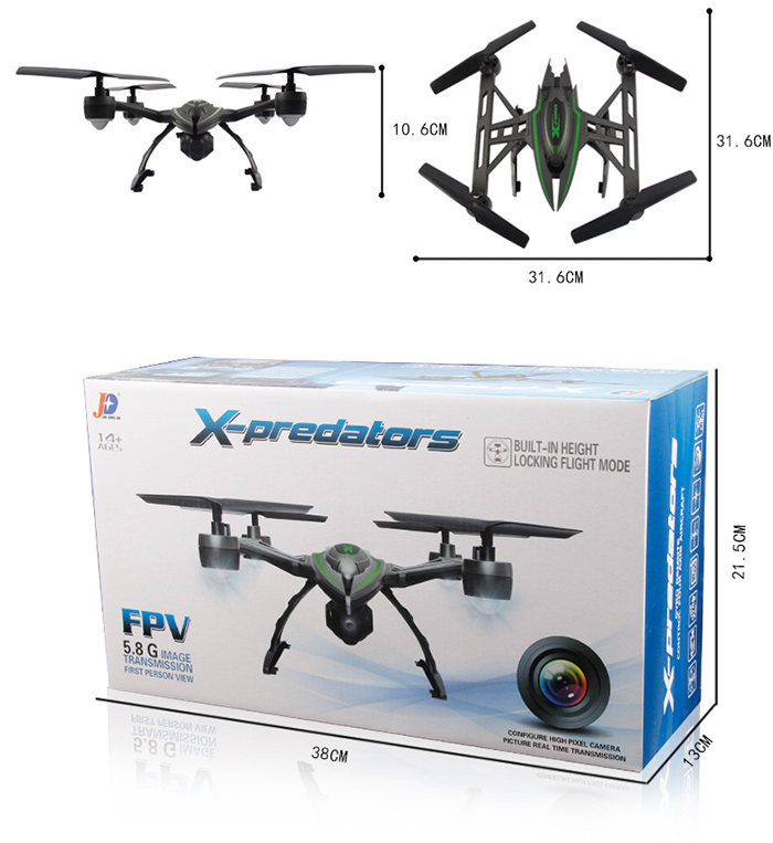 JXD 510G 5 8G FPV 6-axis RC Drone
