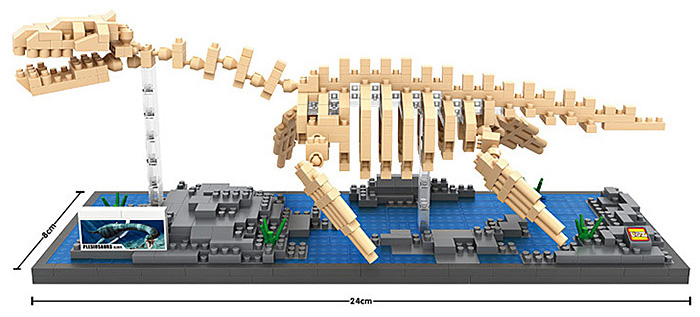 LOZ 9027 690Pcs ABS Plesiosaur Building Block Educational Toy Birthday Present