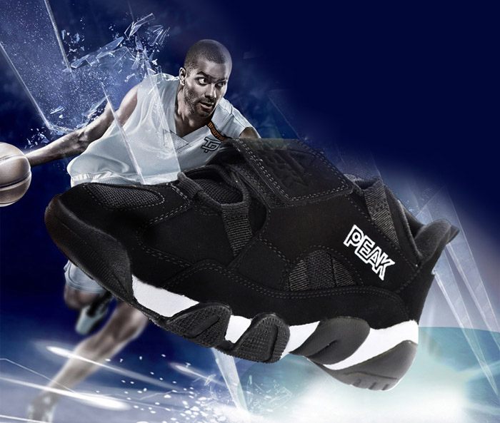 PEAK E6371A Men Low-top Breathable Shockproof Basketball Sneakers