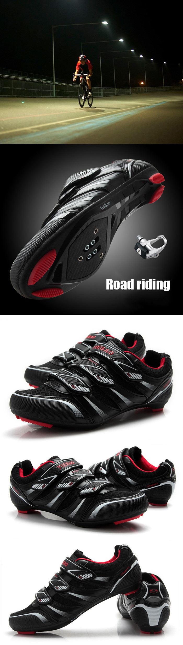 Tiebao Cycling Shoes add Pedal set sapatilha ciclismo mtb
