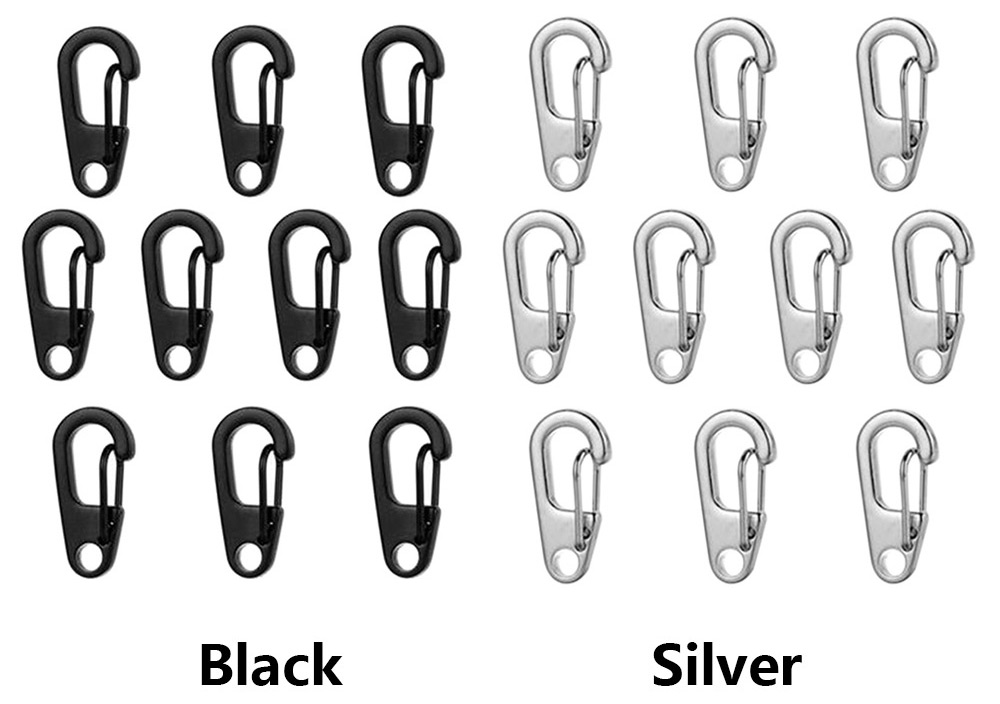10PCS D2 Zinc Alloy Carabiner Mini Quick Release Buckle