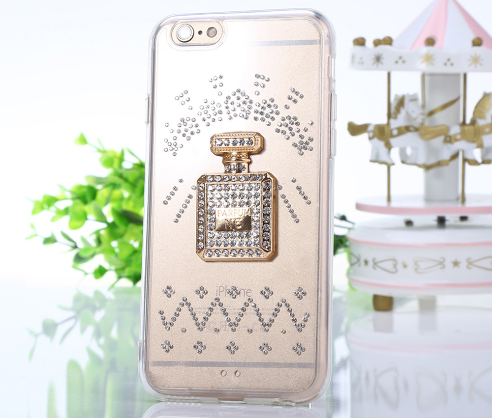Diamond Style Phone Back Case Protector for iPhone 6 / 6S Flicker Pattern Protector