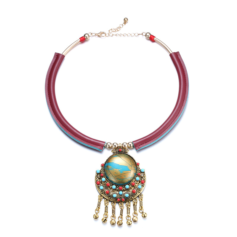 ELANDIS NL13351 Bohemian National Wind Style with Alloy Pendant for Women Decoration