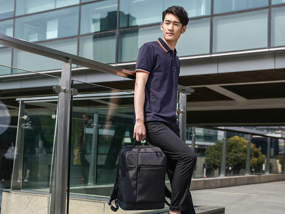 17L Classic Casual Business Style Men Laptop Backpack for Xiaomi- Black