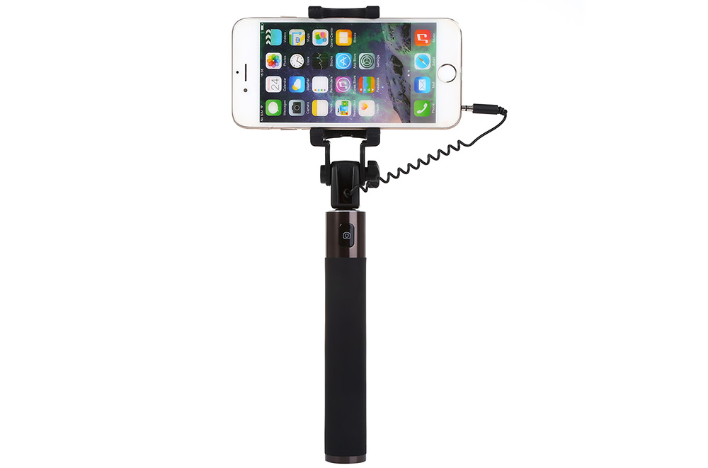 Original HUAWEI Honor Selfie Stick Monopod Wire Control Camera Shutter Set 180 Degree Rotatable